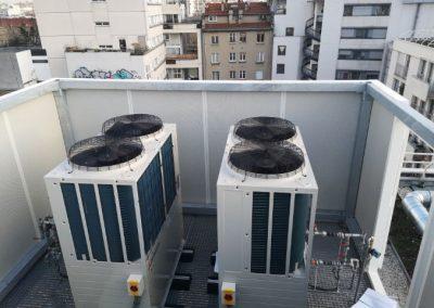 écran acoustique sur toiture
