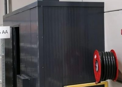 cabine acoustique autour d'un compresseur